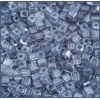 Square Beads 3.4x3.4mm Round Hole Blue Luster